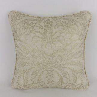 Cream Gold Damask Print Fabric Cushions