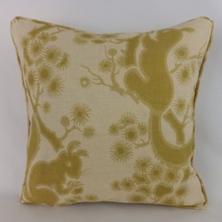 Linwood Wistman's Woods Maize Gold Squirrel Cushions