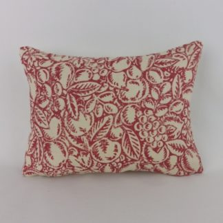 Linwood Burgh Island Red Faded Rose Woodblock Lumbar Cushions