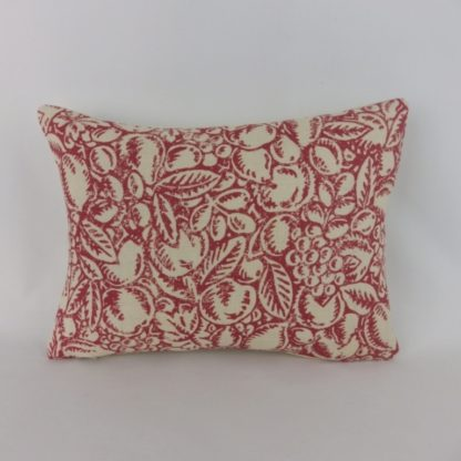 Linwood Burgh Island Red Faded Rose Woodblock Lumbar Cushions