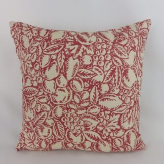 Linwood Burgh Island Red Faded Rose Woodblock Cushions