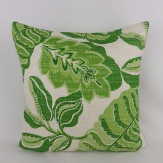 Apple Green Sanderson Fitzroy Bloomsbury Canvas Fabric Cushion