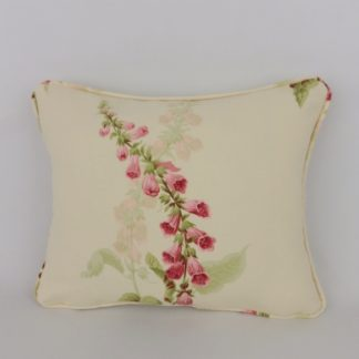 Cottage Garden Sanderson Foxgloves Floral Lumbar Cushion