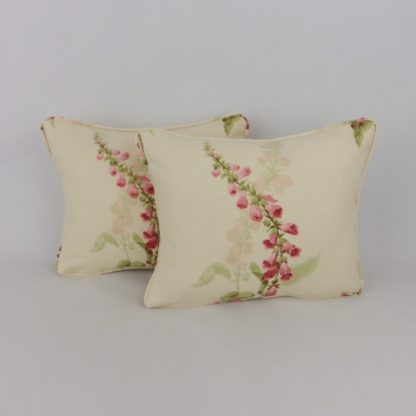 Cottage Garden Sanderson Foxgloves Floral Lumbar Cushion