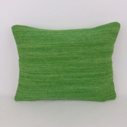 100% Wool Green Tweed Cushion