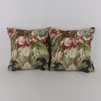 Linwood Wakehurst Midnight Ramble Faded Dark Floral Mini Cushions