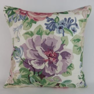 Sanderson Midsummer Rose Vintage Floral Cushion