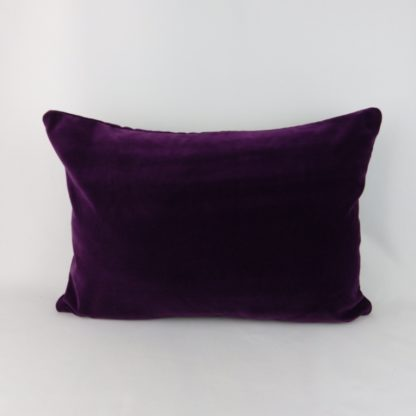 Large Purple Velvet Pillow Cushion