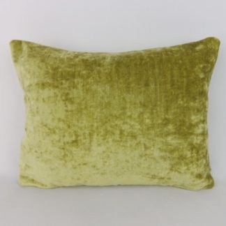 Chartreuse Green Crushed Velvet Lumbar Pillow Cushion