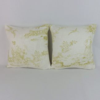 Chartreuse Green Chinese Toile Chivasso Whisperers Garden Mini Cushions