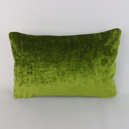 Green Crushed Velvet Lumbar Pillow Cushion