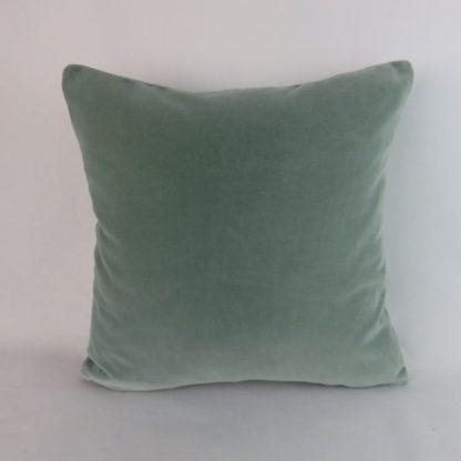 Soft Green Velvet Cushion