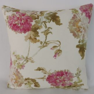 Edinburgh Weavers Nancy Pink Green Floral Cushion