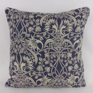 GP J Baker Fritillerie Indigo Blue Vintage Floral Cushions