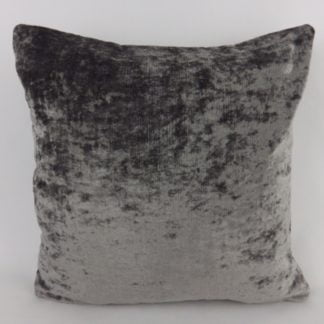 Grey Crushed Velvet Pillow Cushions