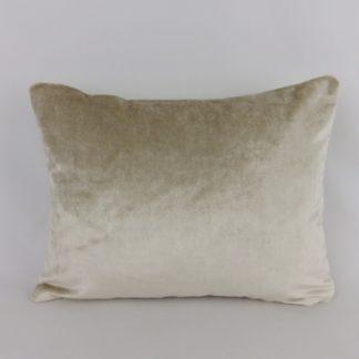 Sumptuous Truffle Velvet Lumbar Cushion