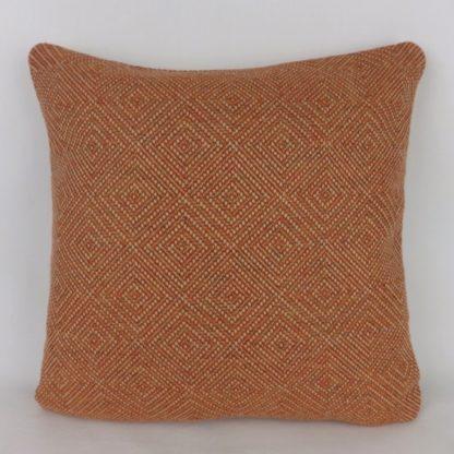 Orange Red Woven Diamond Cushions
