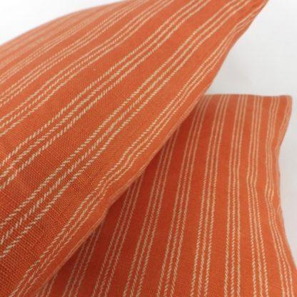 Orange College Stripe Flamant Arte Cushions