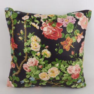 Bright Floral Cottage Garden Flowers Cushion