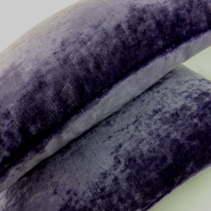 Purple Velvet Lumbar Cushion