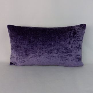 Large Purple Velvet Lumbar Cushion