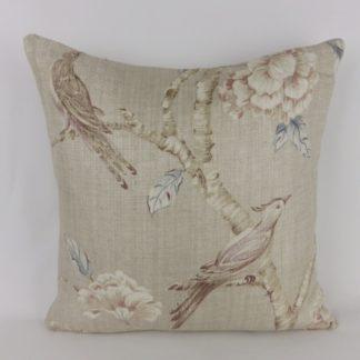 Zoffany Woodville Bird Peony Floral Cushions