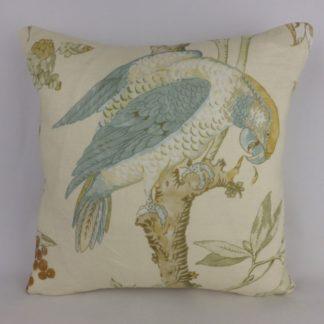 Duck Egg Blue Parrot Cushion