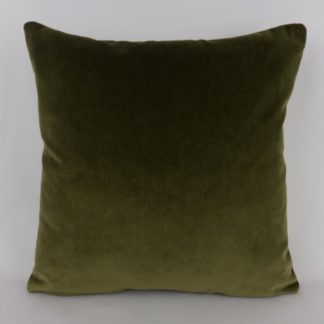 Khaki Green Velvet Pillow Cushions