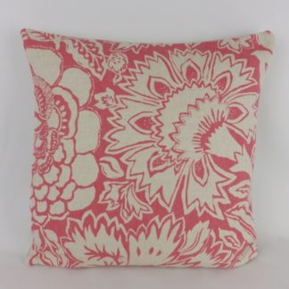 Reverse Botanical Floral Sanderson Poppy Damask Cushion