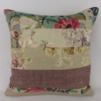 Sanderson Floral Linen Patchwork Cushion