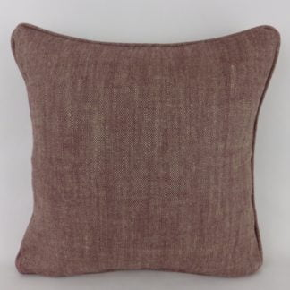 Damson Purple Natural Linen Weave Cushions