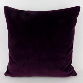 Deep Purple Velvet Large Cushions