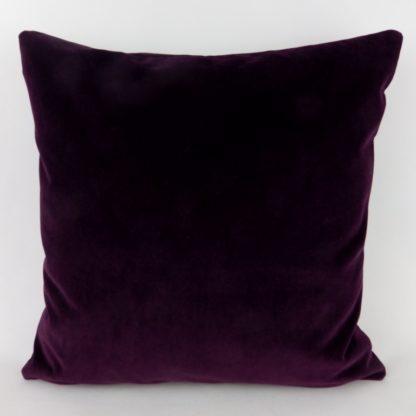 Deep Purple Velvet Cushions