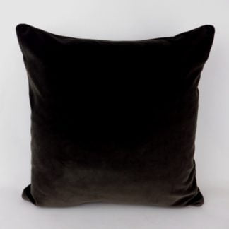 Deep Charcoal Brown Velvet Pillow Cushions
