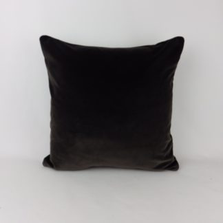 Dark Charcoal Brown Velvet Pillow Cushion
