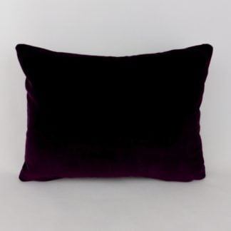 Deep Purple Velvet Lumbar Cushion