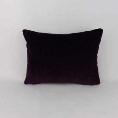 Deep Purple Velvet Lumbar Cushion