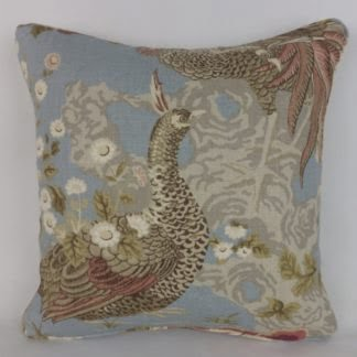Sanderson Borocay Blue Peacock Cushion