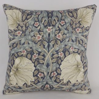 William Morris Pimpernel Fabric Blue Cushions