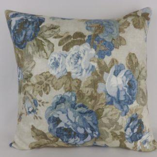 Blue Rose Floral Rosemoor Gardens Hodsoll McKenzie Cushions