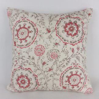 Modern Red Batik Floral Cushions