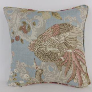 Sanderson Borocay Blue Peacock Cushion