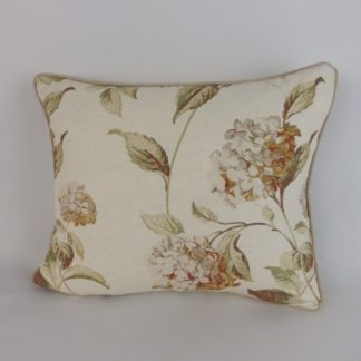 Gold Hydrangea Floral Cushion