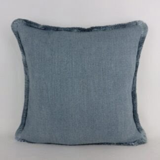 Blue Fringe Cushions