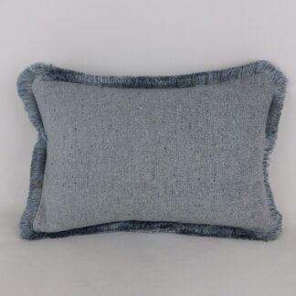 Blue Fringe Cushions
