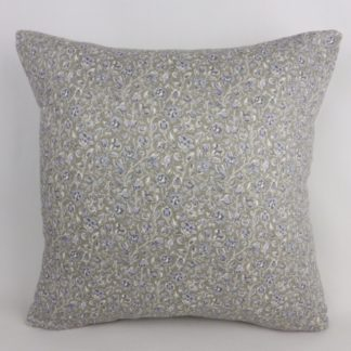 French Blue Grey Floral Cushions