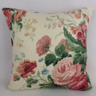 Sanderson Stapleton Park Vintage Rose Floral Cushions