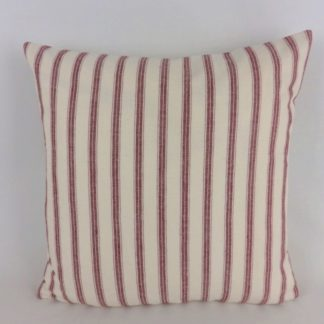 Red Ticking Stripe Cushions