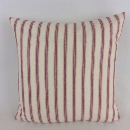 Red Ticking Stripe Cushions