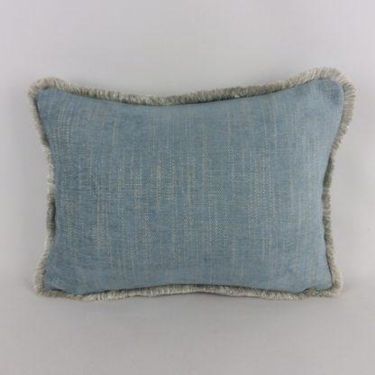 Blue Lumbar Fringe Cushions